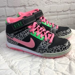 Nike Air Morgan high top. leopard print & pink. 7